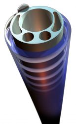 Multilumen extrusion with coil reinforcement to improve kink resistance.